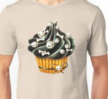 Black Halloween Cupcake Unisex T-Shirt