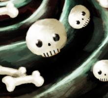 Black Halloween Cupcake Sticker