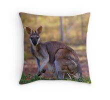 mummy wallaby Throw Pillow