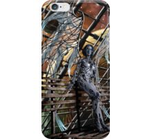 Robot Angel Painting 005 iPhone Case/Skin