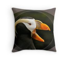 Puffin Laughing Throw Pillow