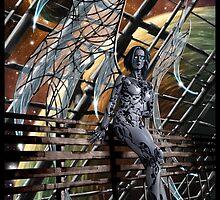 Robot Angel Painting 005 by Ian Sokoliwski
