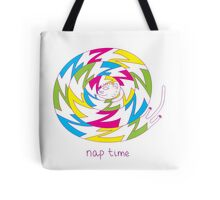 Psychedelic sleeping cat Tote Bag