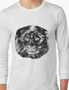 Lion Head Design Long Sleeve T-Shirt