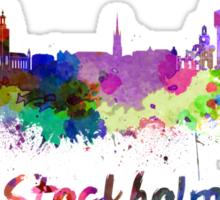 Stockholm skyline in watercolor Sticker