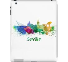 Seville skyline in watercolor iPad Case/Skin