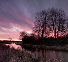 Sunrise over the Grand Union Canal by Ralph Goldsmith