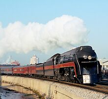 N&W #611 Eastbound Past Her Birthplace - Roanoke's East End Shops by TrainmasterBob