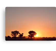 End of Day out West Canvas Print
