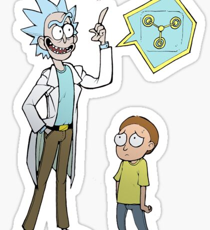 rick and porty Sticker