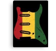 Reggae Rasta Guitar Pickguard Canvas Print