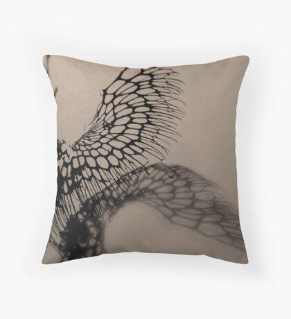 Sepia skeleton Throw Pillow
