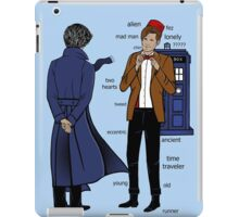 Sherlock meets the Doctor iPad Case/Skin