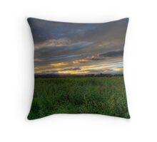 Sunflower Sundown Throw Pillow