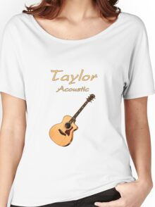Taylor Acoustic Guitar Women's Relaxed Fit T-Shirt
