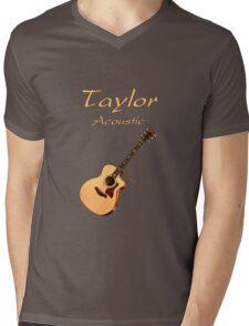 Taylor Acoustic Guitar Mens V-Neck T-Shirt