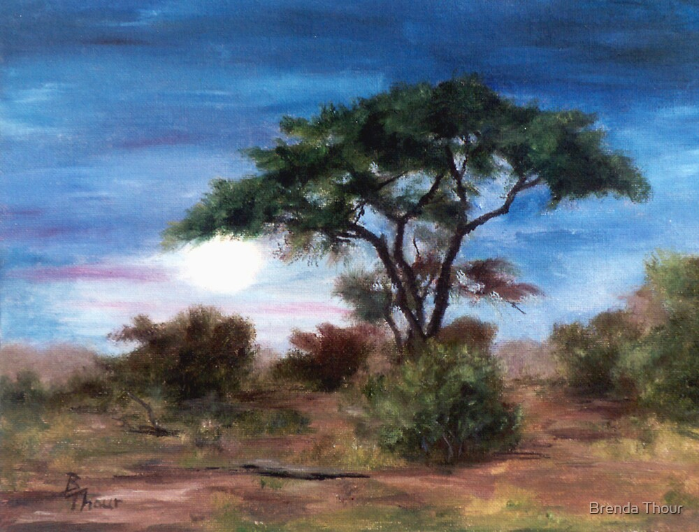 African Moon by Brenda Thour