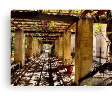 San Gabriel Mission Arches Canvas Print