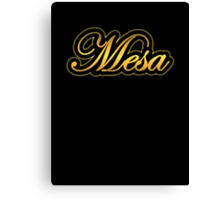 Mesa  Amp Vintage Gold Canvas Print