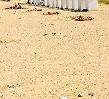 White Beach Hut - Ile de Ré, France. by Tiffany Lenoir