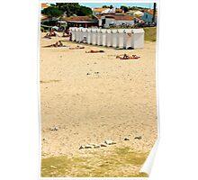 White Beach Hut - Ile de Ré, France. Poster