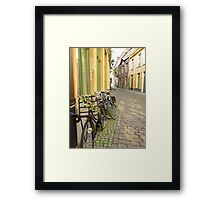Flowering Bikes Framed Print