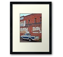Closed Down Boarded Up Framed Print