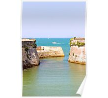 The Fort on the Ocean - Ile de Ré, France. Poster