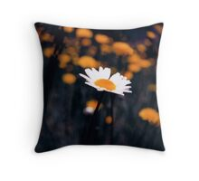 A Daisy Alone Throw Pillow