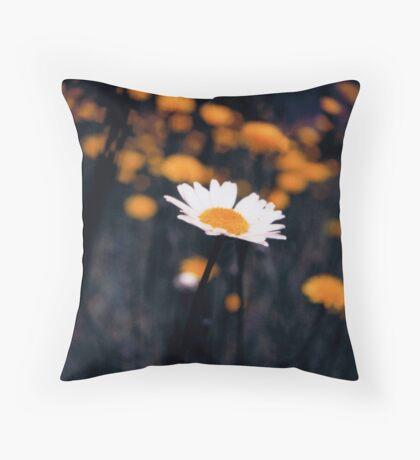 A Daisy Alone Throw Pillow