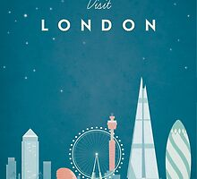 Vintage London Travel Poster by VintageTravelPosters .co