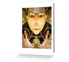 Maliciounata ~ The Time Thief Greeting Card