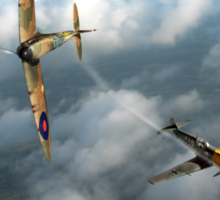 Battle of Britain Spitfire shoots down Messerschmitt Bf 109 Sticker
