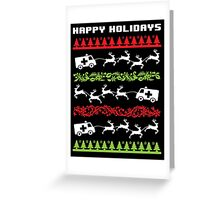 Funny 'Santa Reindeer Pulling Ambulance' Happy Holiday EMT/Paramedic T-Shirt and Accessories Greeting Card