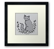 Gray Fox Framed Print