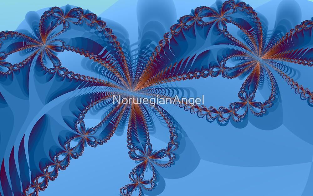 Blue Flowers by NorwegianAngel