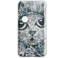 Cat in a Fishbowl, Mixed Media iPhone Case/Skin