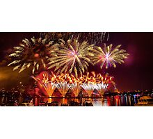 Fireworks over the Charles River.  Photographic Print