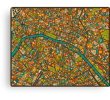 Paris Map Canvas Print