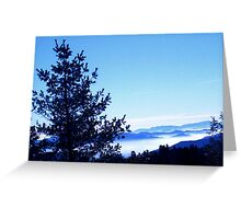 foggy mountain break down Greeting Card