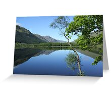 mirror calm scottish loch   Greeting Card