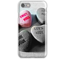"""First Kiss"" Valentine's Day Card iPhone Case/Skin"