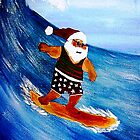 Surfin' Santa........The Big Kahuna by WhiteDove Studio kj gordon