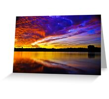 Burning sky 2 Greeting Card