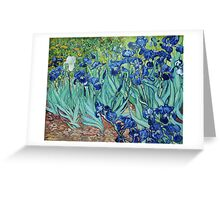 Famous art, Iris,  by Vincent van Gogh. Vintage impressionism floral oil painting. Greeting Card