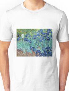 Famous art, Iris,  by Vincent van Gogh. Vintage impressionism floral oil painting. Unisex T-Shirt