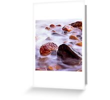 Crail Harbour Rocks Greeting Card