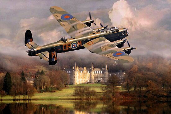 Lancaster over Scotland by Bob Martin