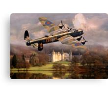 Lancaster over Scotland Canvas Print