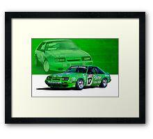Dick Johnson Mustang Framed Print